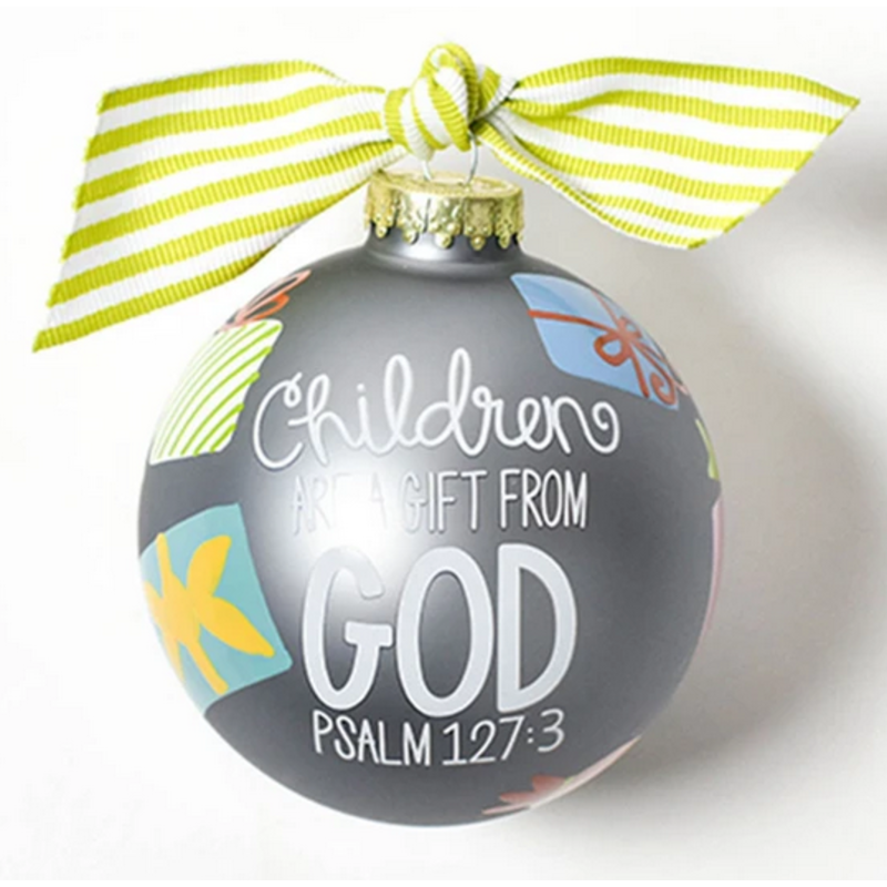 Coton Colors Children Are A Gift From God Glass Ornament
