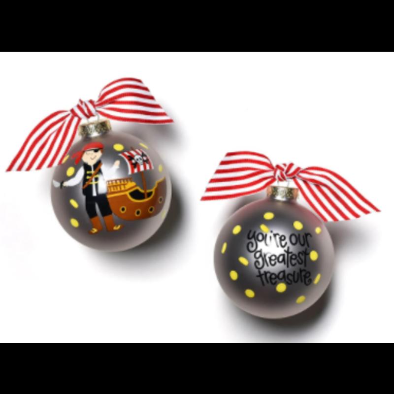 Coton Colors Pirate Glass Ornament