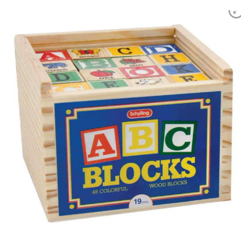 Schylling Schylling Alphabet Blocks 48pc