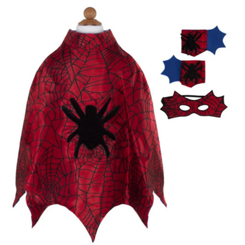 Great Pretenders Great Pretenders Spider Cape Set With Masks And Cuffs