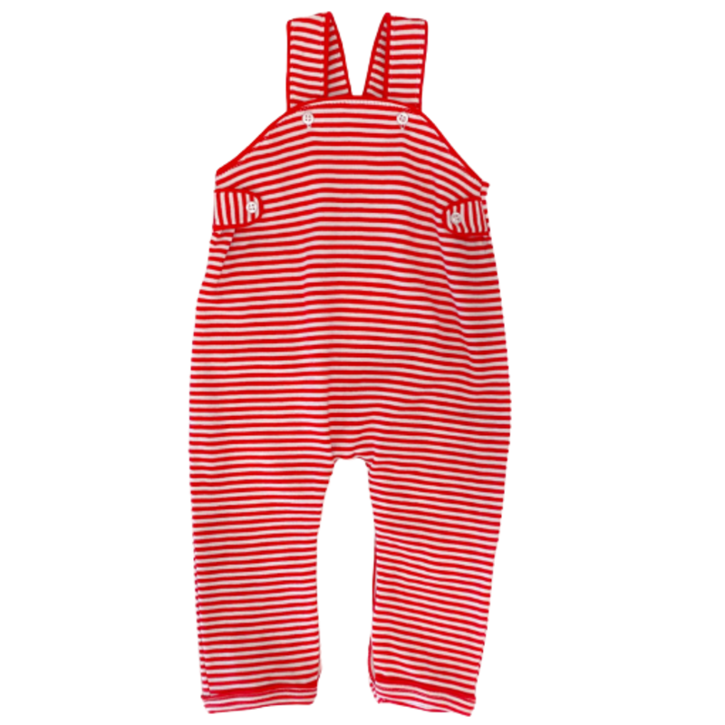 Squiggles Squiggles Red Stripe Tabbed Romper