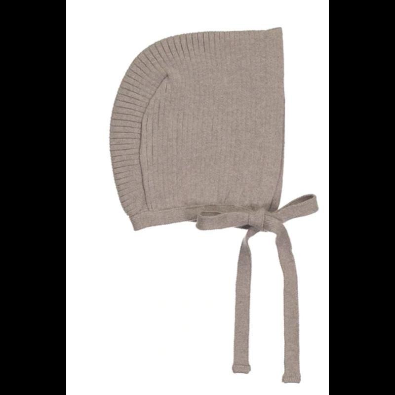 Feltman Brothers Ribbed Knit Bonnet - Heather Tan