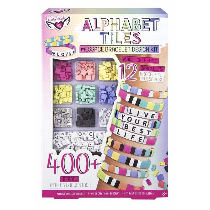 Fashion Angels Fashion Angels Alphabet Tiles Message Bracelet Kit