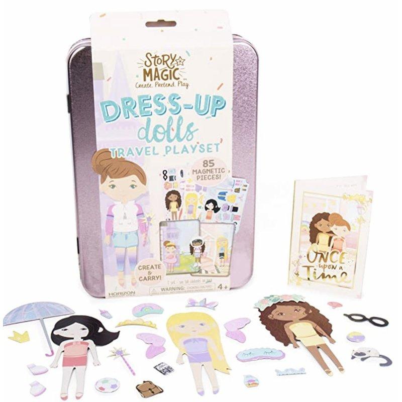 Horizon Group Usa Magnetic Dress Up Doll Travel Set