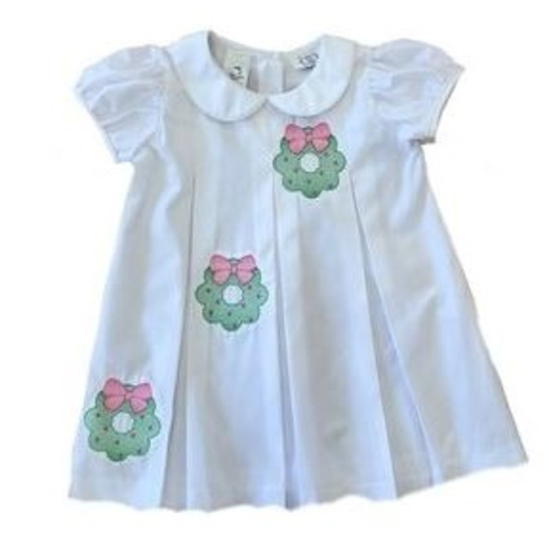 Lulu Bebe White Embroidered Wreath Dress