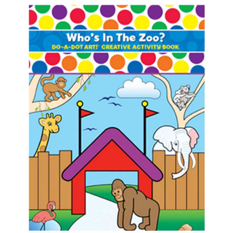 Do A Dot Art Who's In The Zoo Activity Book