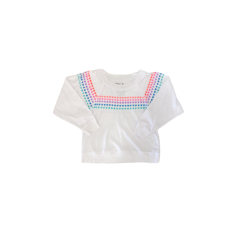 Chaser Chaser LS Rainbow Hearts Pullover