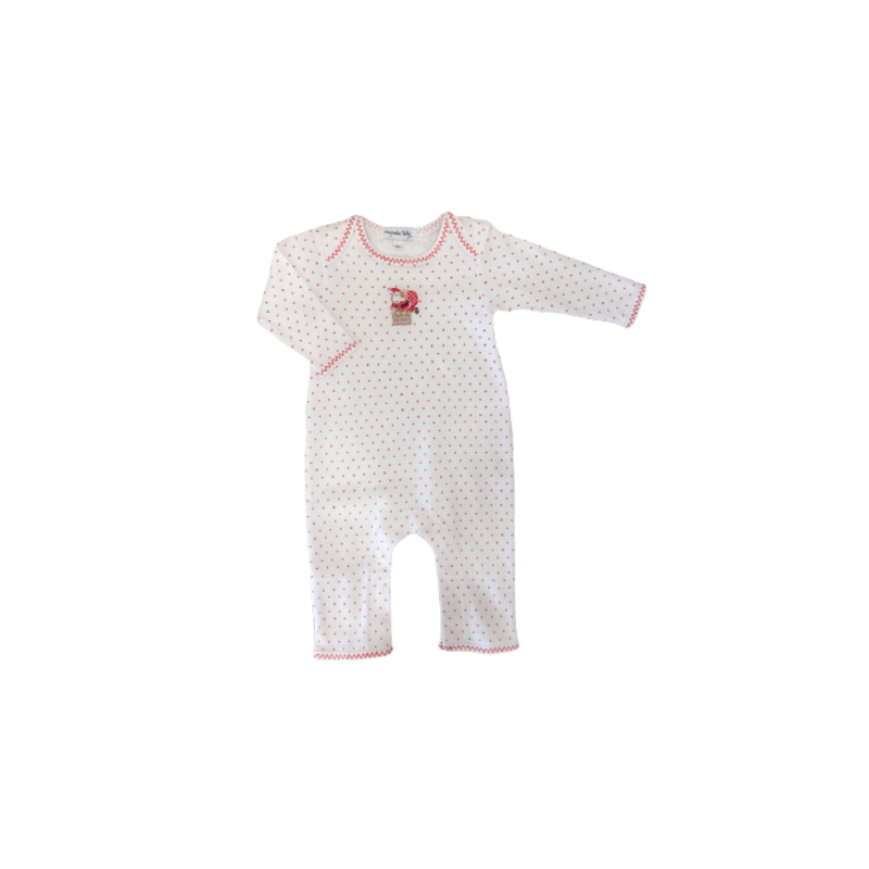 Magnolia Baby Magnolia Baby Vintage Up on the Housetop Emb Playsuit