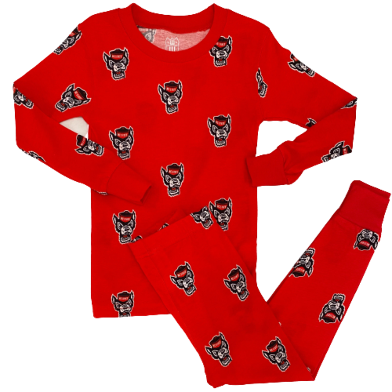 Wes and Willy NC State Long Pajama