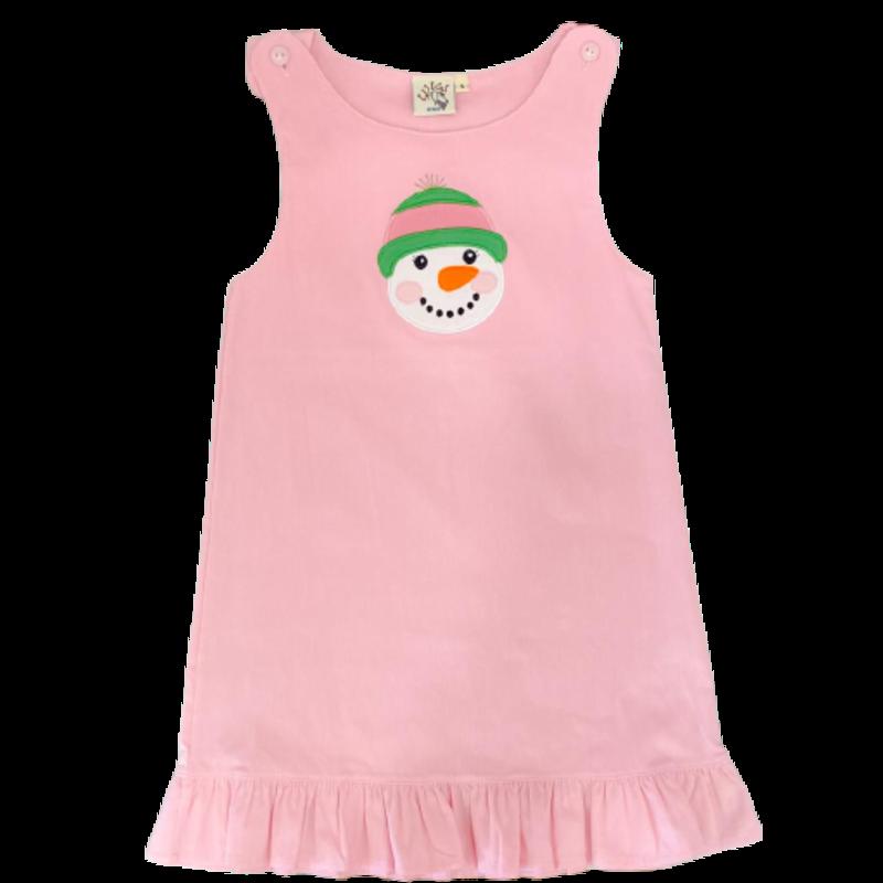 Luigi Luigi Snowman Pink Corduroy Jumper
