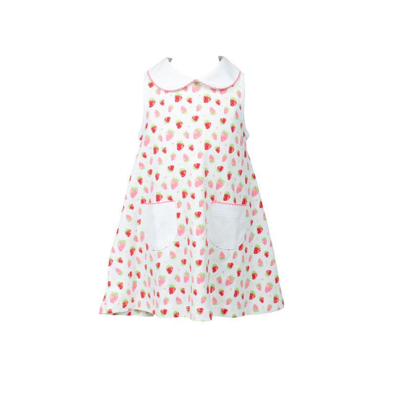 The Proper Peony The Proper Peony Strawberries A-line Dress