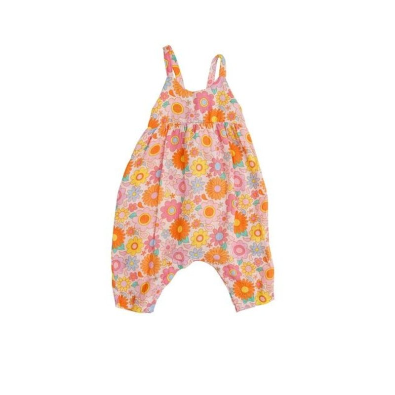Angel Dear Angel Dear Retro Daisy Tie Back Romper