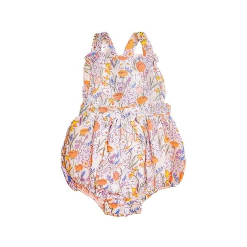 Angel Dear Angel Dear Springtime Floral Ruffle Bib Bubble