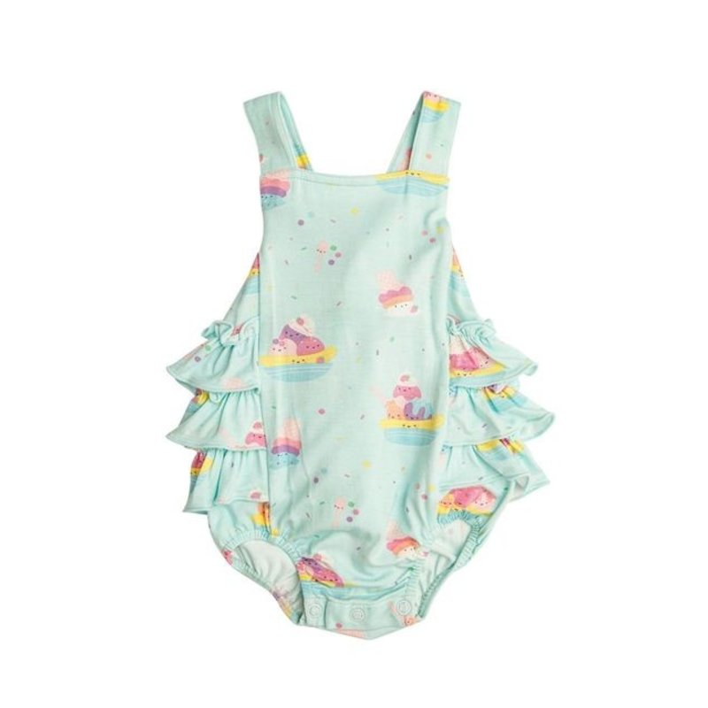 Angel Dear Angel Dear Banana Split Ruffle Sunsuit
