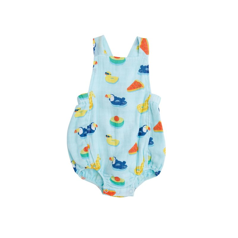 Angel Dear Angel Dear Floaties Retro Sunsuit Blue