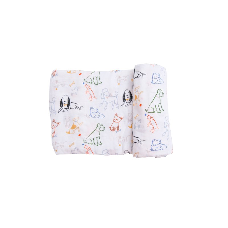 Angel Dear Angel Dear Bark Life Swaddle Blanket