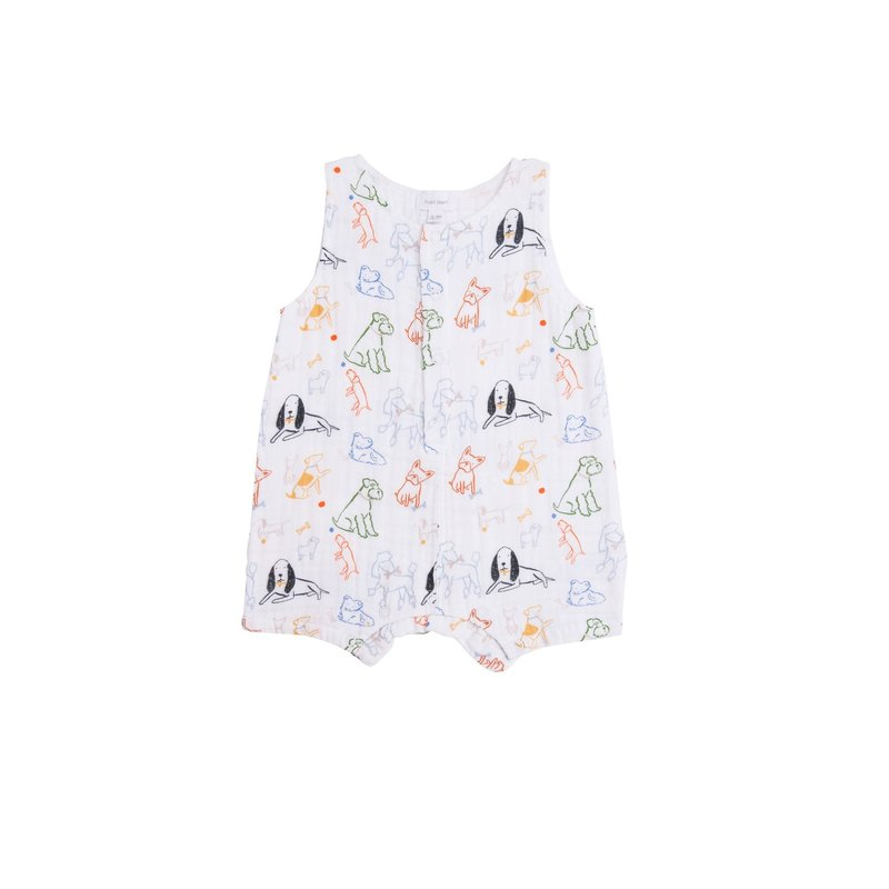 Angel Dear Angel Dear Bark Life Shortie Romper