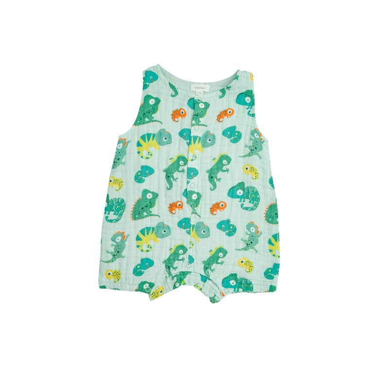 Angel Dear Angel Dear Lizards Shortie Romper