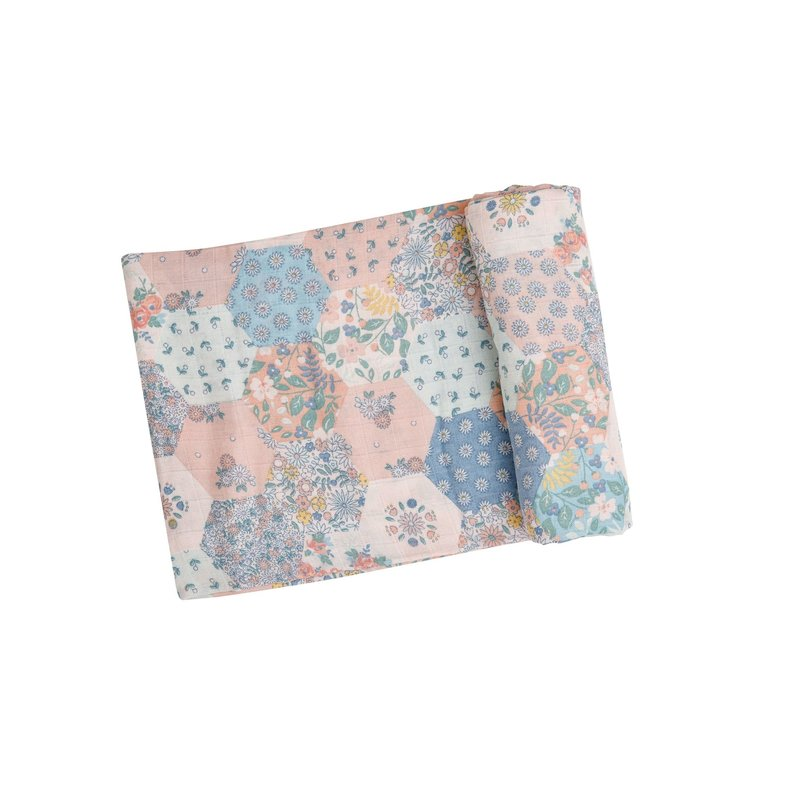 Angel Dear Angel Dear Vintage Patchwork Swaddle Blanket