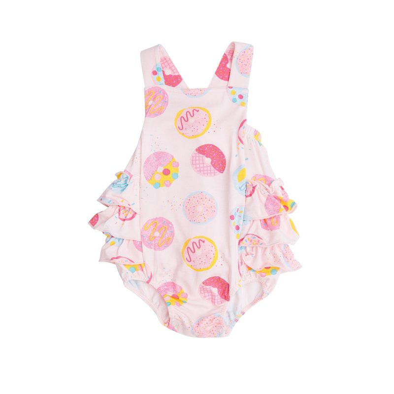 Angel Dear Angel Dear Donuts Ruffle Sunsuit