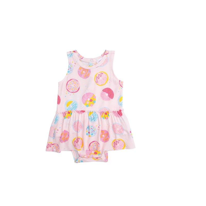 Angel Dear Angel Dear Donuts Bodysuit with Skirt