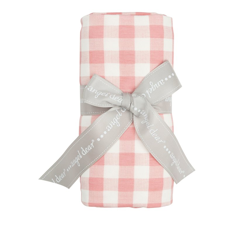 Angel Dear Angel Dear Pink Gingham Swaddle Blanket