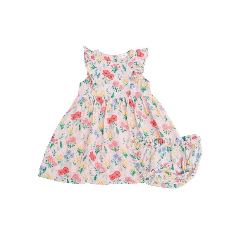 Angel Dear Angel Dear Summer Floral Dress and Diaper Cover