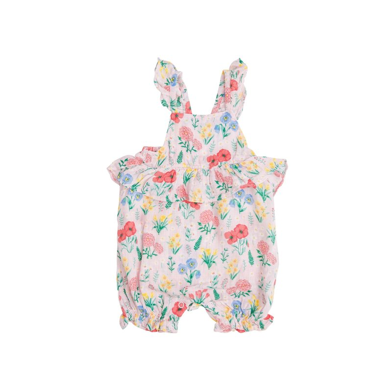 Angel Dear Angel Dear Summer Floral Ruffle Empire Waist Shortie Romper