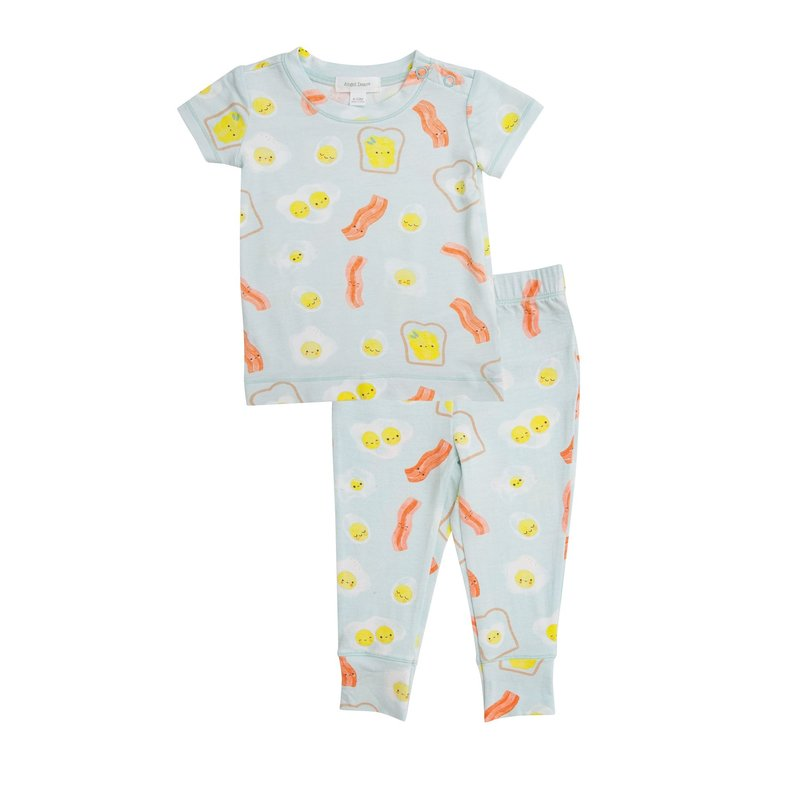 Angel Dear Angel Dear Bacon And Eggs Blue Lounge Wear Set