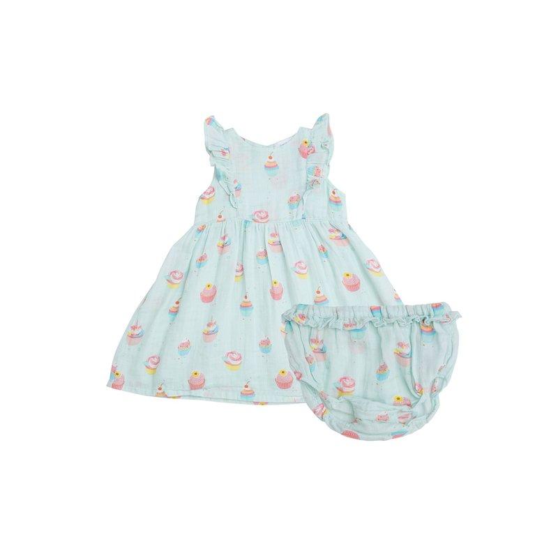 Angel Dear Angel Dear Blue Cupcake Dress and Diaper Cover