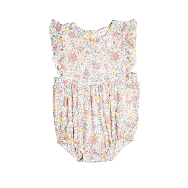 Angel Dear Angel Dear Sweet Ditsy Ruffle Sunsuit