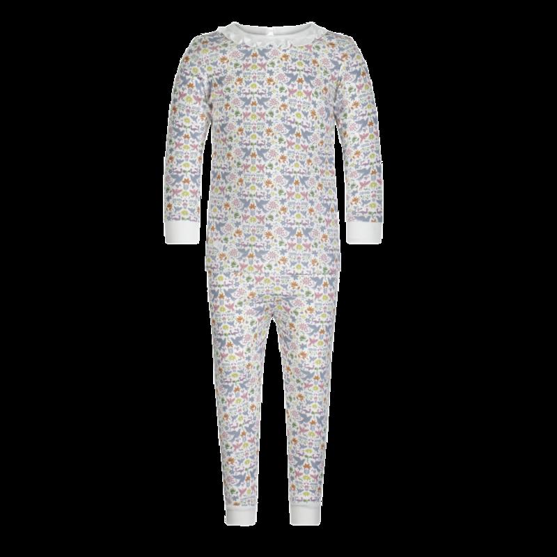 Lila + Hayes Lila + Hayes Ava- Fiesta Ruffled Neck 2pc Pajama Set