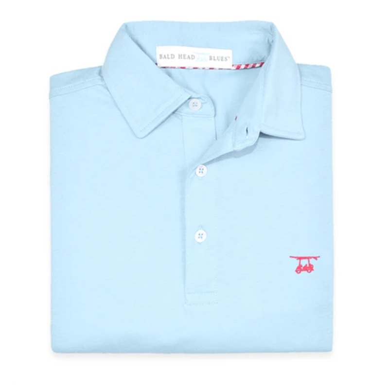 Bald Head Blues Bald Head Blues Youth Ace Polo- Light Blue