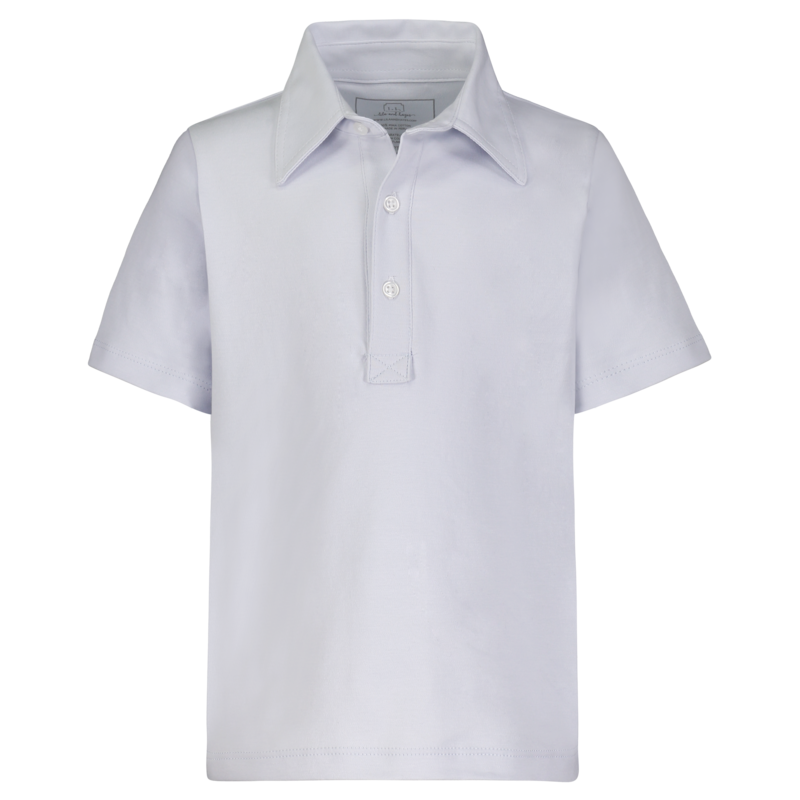 Lila + Hayes Lila + Hayes Griffin- Light Blue Golf Shirt