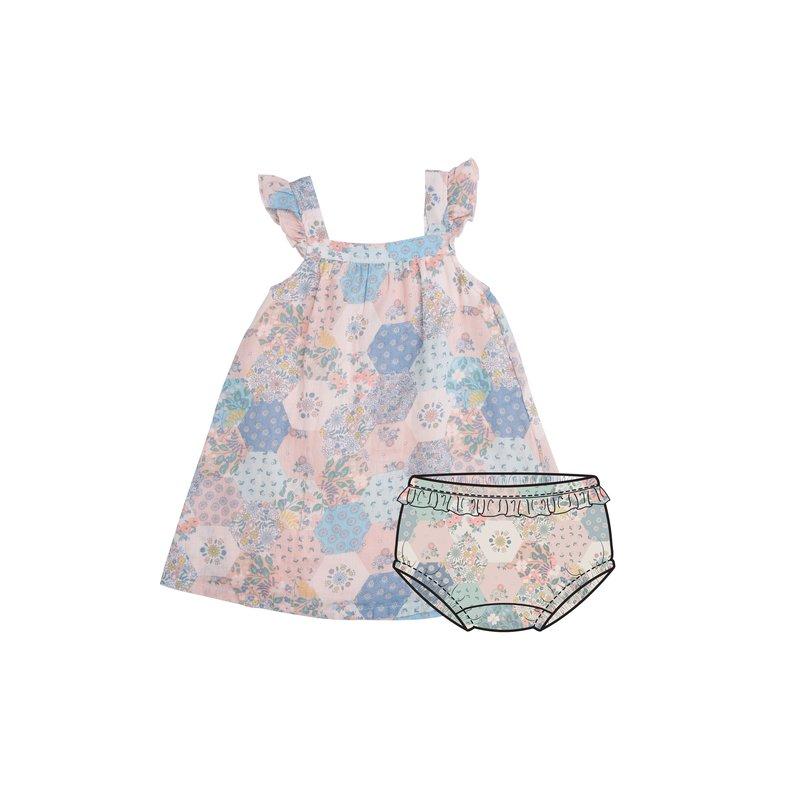 Angel Dear Angel Dear Vintage Patchwork Sundress/Diaper Cover