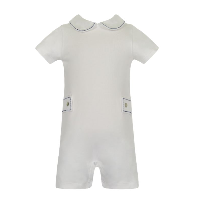 Lila + Hayes Lila + Hayes Henry- White With Navy Shortall