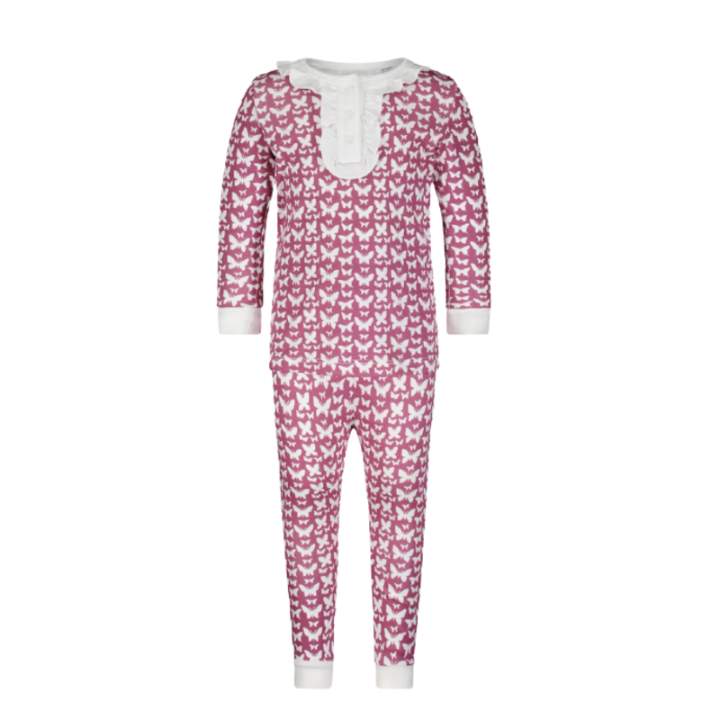 Lila + Hayes Lila + Hayes Alden- All Aflutter 2pc Pajama Set