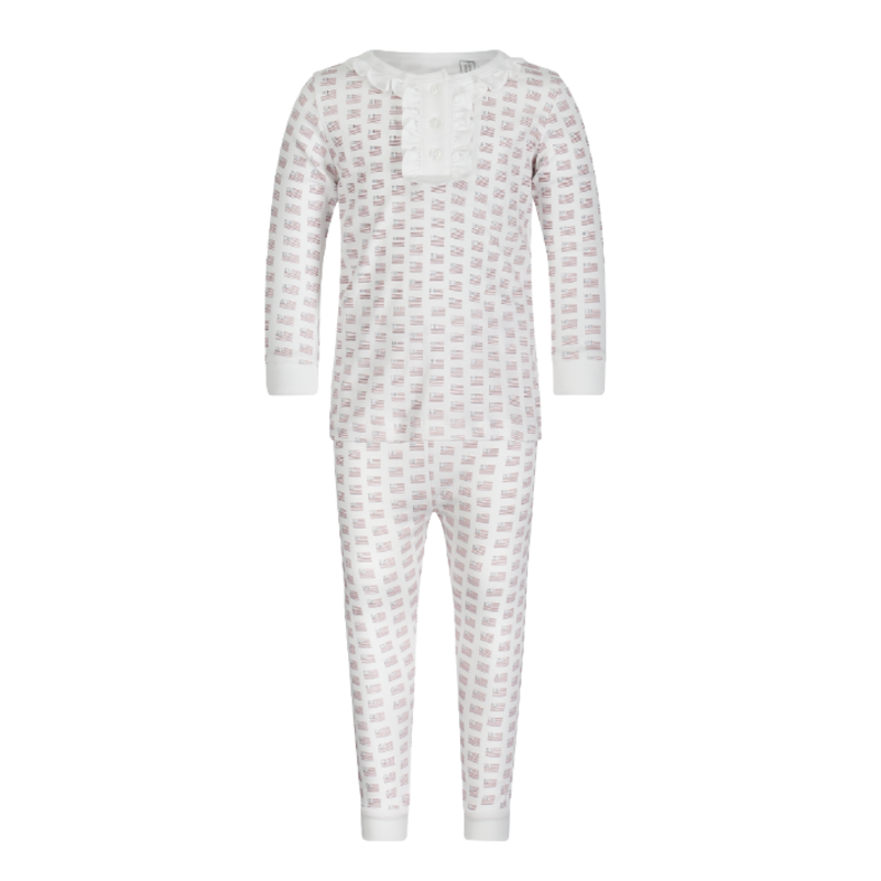 Lila + Hayes Lila + Hayes Alden- Americana 2pc Pajama Set