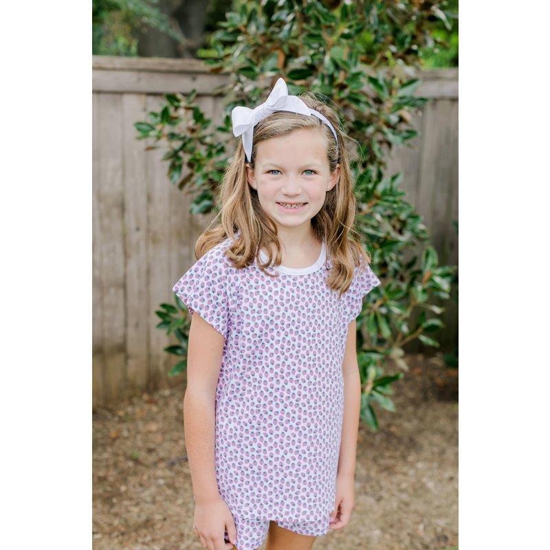 Lila + Hayes Lila + Hayes Emery- Strawberry Fields 2pc Short Pajama Set