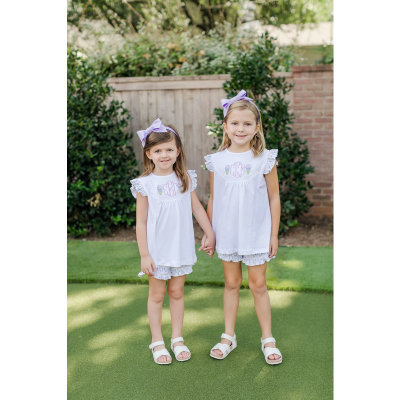 Lila + Hayes Lila + Hayes Ella- Ice Cream Delight Flutter Sleeve Top and Short Set