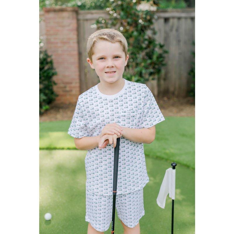 Lila + Hayes Lila + Hayes Charles Set- Golf Carts Pocket T-Shirt & Short Set