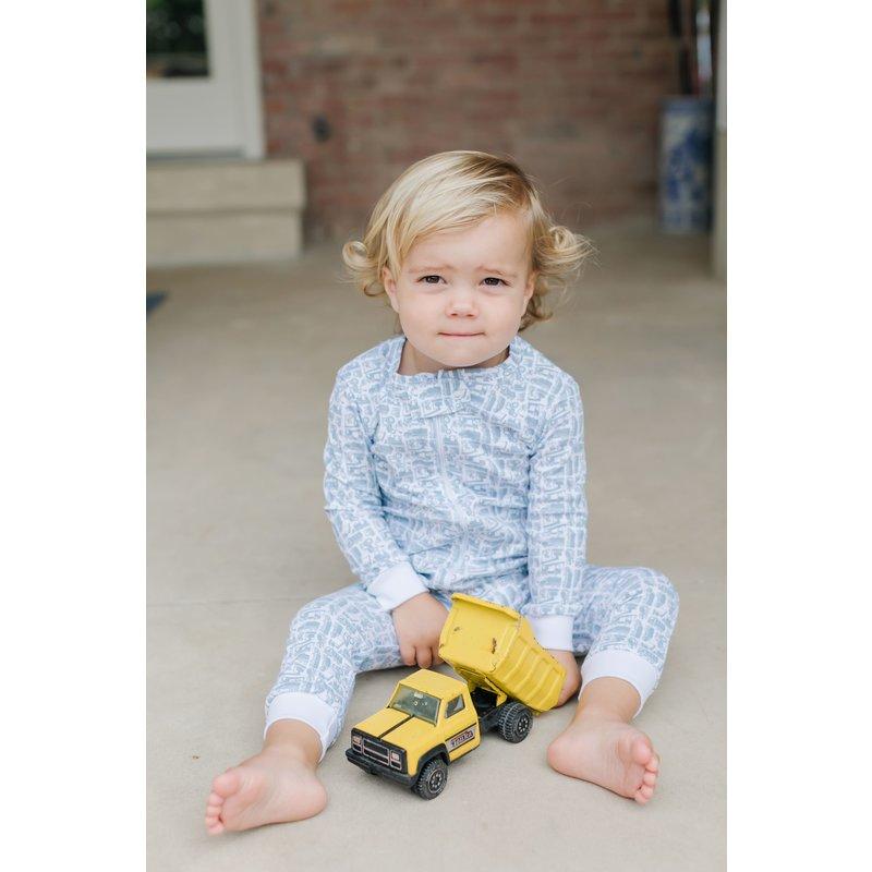 Lila + Hayes Lila + Hayes Parker- Construction Site Zipper Pajama