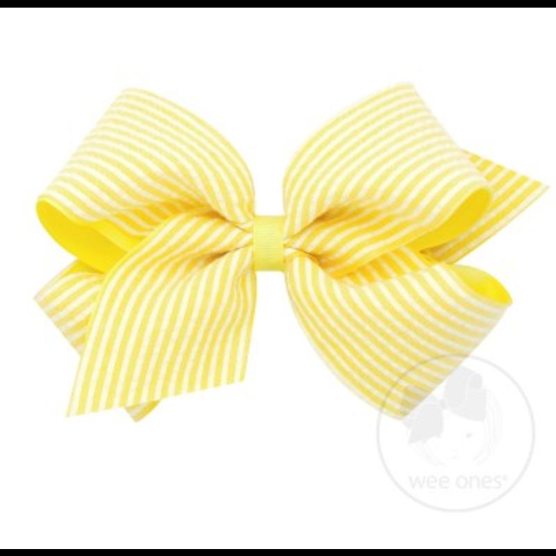 Wee Ones Bows Wee Ones King Yellow Seersucker Bow