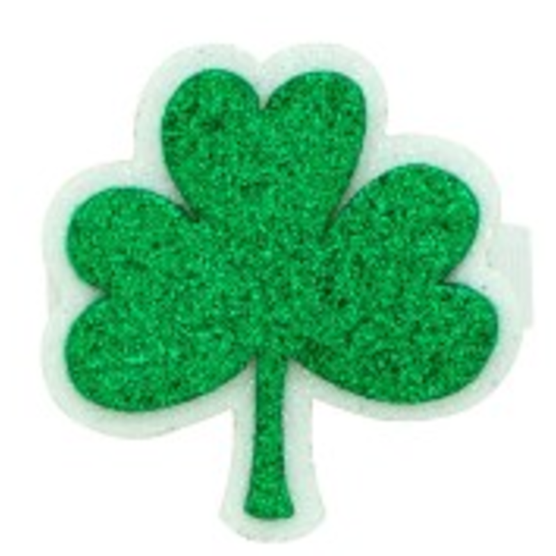 Wee Ones Bows Wee Ones Glitter Shamrock Hair Clip