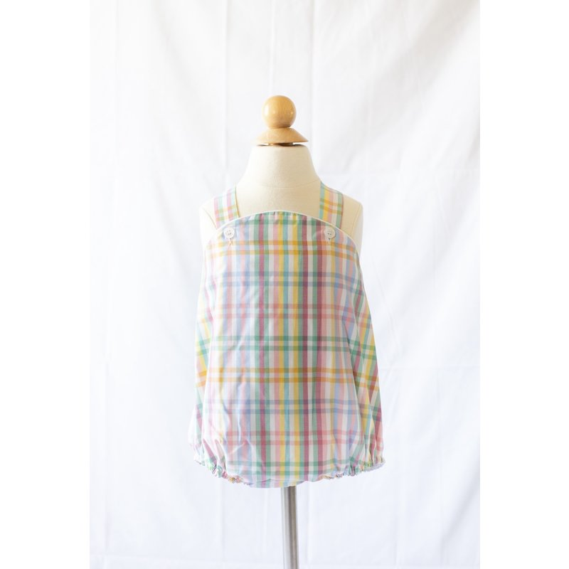 Peggy Green Peggy Green Cross Back Bubble - Abaco Plaid