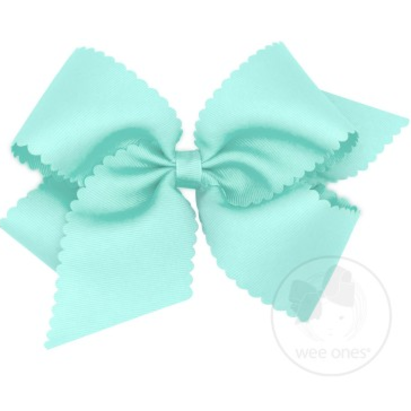 Wee Ones Bows Wee Ones King Crystalline Scallop Edge Bow