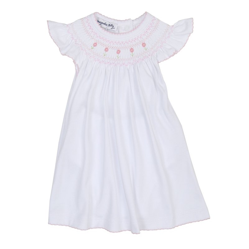 Magnolia Baby Magnolia Baby Becky and Ben's Classics Pink Bishop Flutter Dress