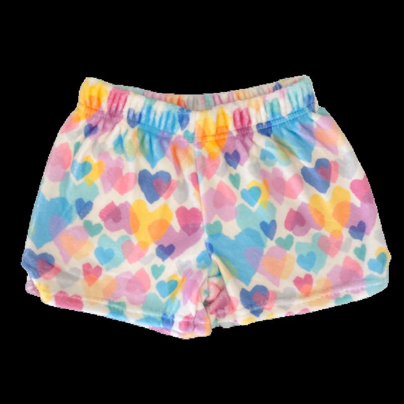 Iscream Iscream Pastel Hearts Plush Pajama Shorts