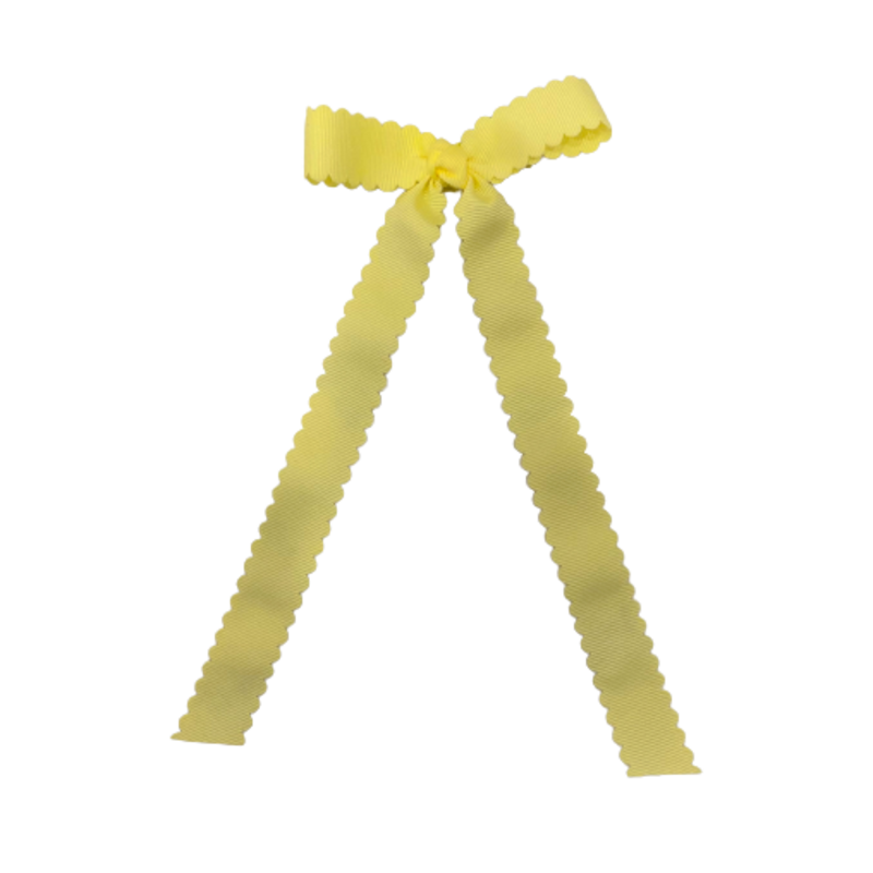 Wee Ones Bows Wee Ones Mini Light Yellow Grosgrain Bow w/ Tails