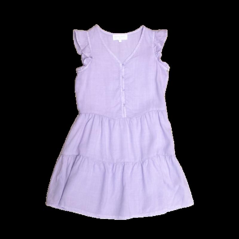 Bell Dahl Girl Bella Dahl Girl Tiered Button Front Dress Purple